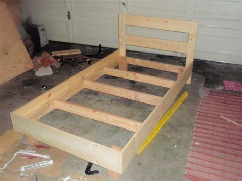 How To Build A Single Bed Frame Of Some Use Building A Pine Bed