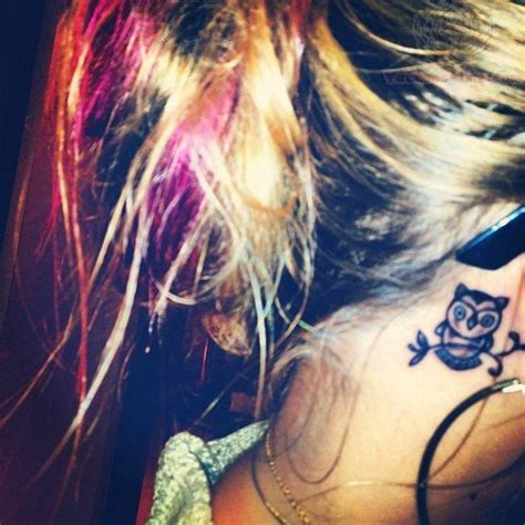 small owl tattoo behind ear owl tattoo images designs
