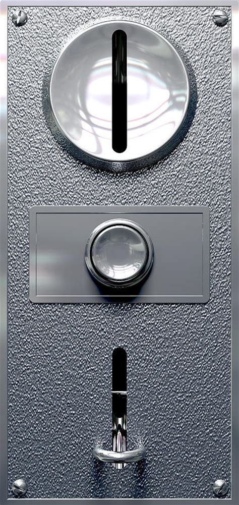 vintage coin slot machine panel  button front digital