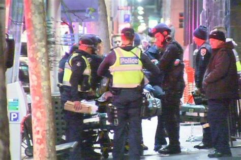 swinging melbourne man shot by police after pulling out gun at melbourne