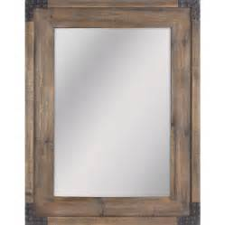 Vanity Mirror 30 X 40 Shop Allen Roth 30 31 In X 40 55 In Reclaimed Wood