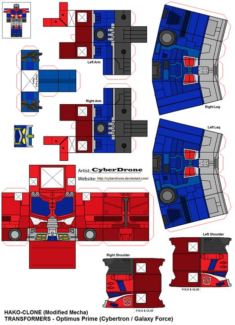 Transformers Papercraft Optimus Prime - paper crafts transformer animated draw
