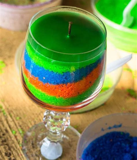 creare candele colorate le candele fai da te