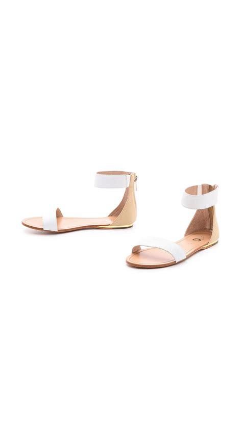 yosi samra sandals lyst yosi samra cambelle flat sandals blackmisty in