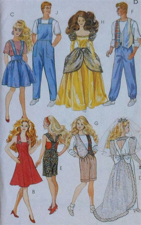 barbie sewing patterns on pinterest barbie patterns 11 5 quot fashion doll clothes sewing pattern dockor barbie