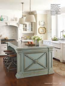 blue kitchen island eye for design decorate your kitchen with two tone cabinets