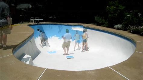 time lapse of pool painting