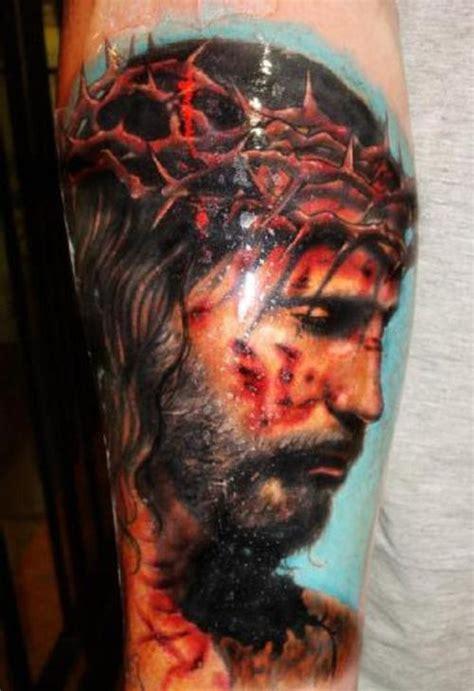 jesus tattoo on man s arm jesus tattoos and designs page 47