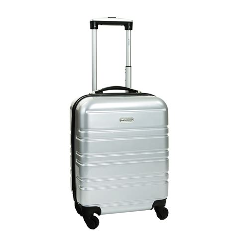 cabin luggage size cabin size silver hardshell suitcase home store more
