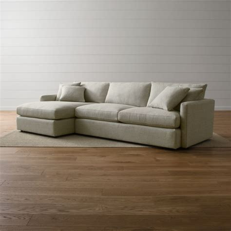 Crate And Barrel Lounge by Lounge Ii 2 Sectional Sofa Taft Cement Crate And