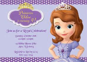 sofia the first birthday party invitations disney kids
