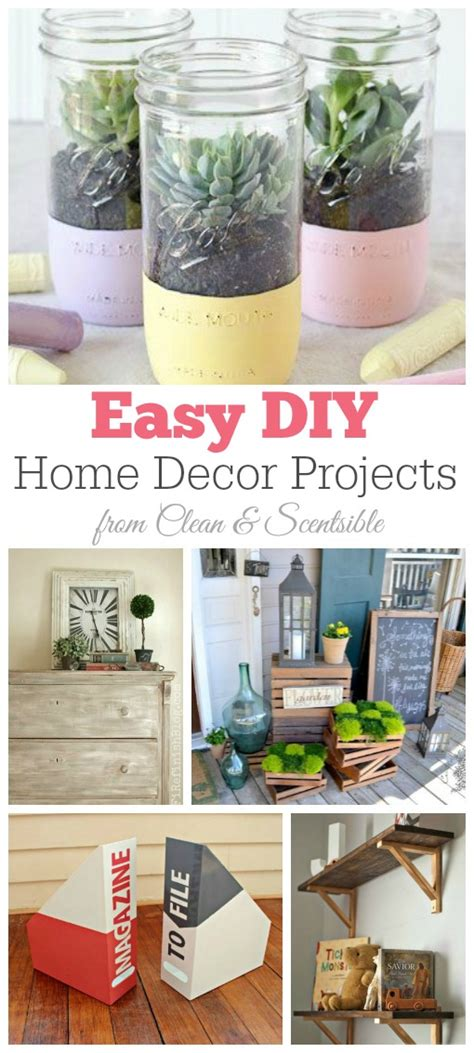 easy diy home decor crafts friday favorites diy home decor projects clean and scentsible