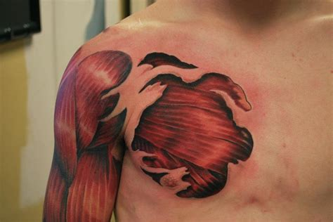 chest tattoo muscle 8 muscles tattoo designs