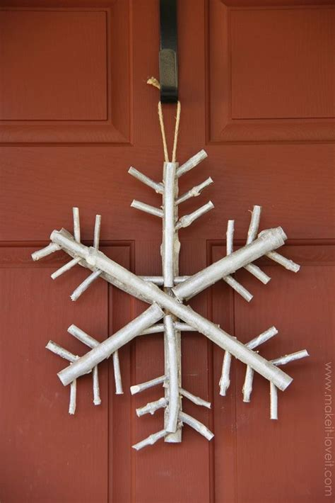 diy twig wreath twig branch snowflake a nice and earthy piece of winter