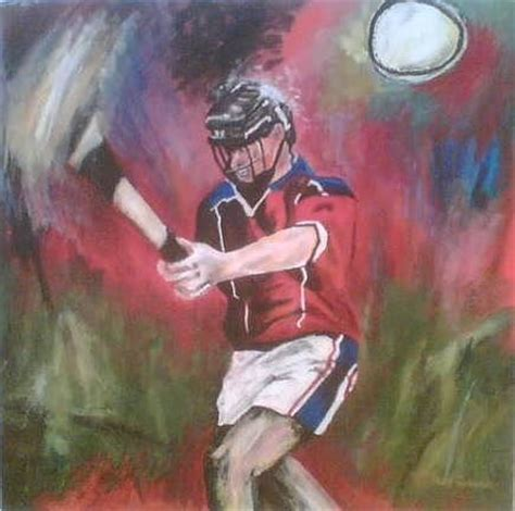 art of hurling painting by aine gorman