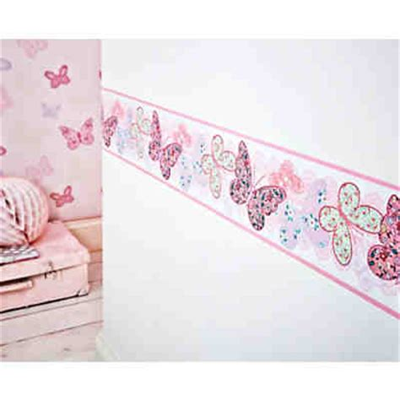 bordure kinderzimmer malen bord 252 re schmetterlinge 15 6 cm x 5 m decofun mytoys