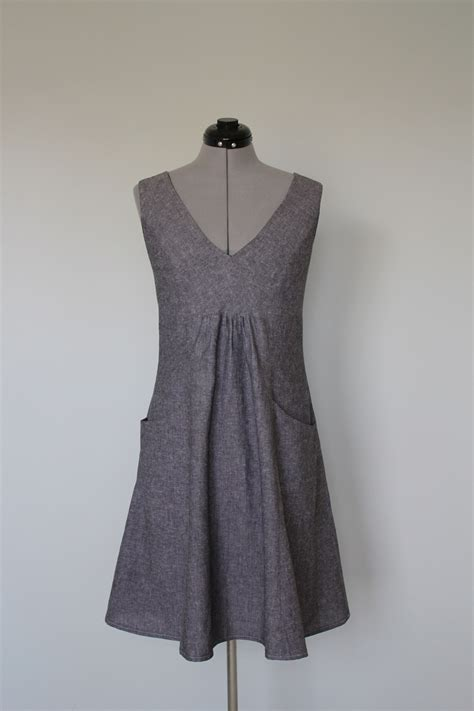pattern for simple linen dress grey linen dress with pockets sewing projects
