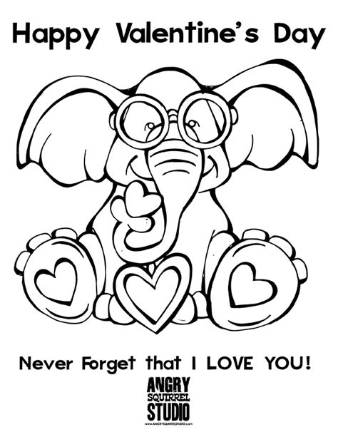 elephant valentine coloring pages elephant valentine coloring coloring pages