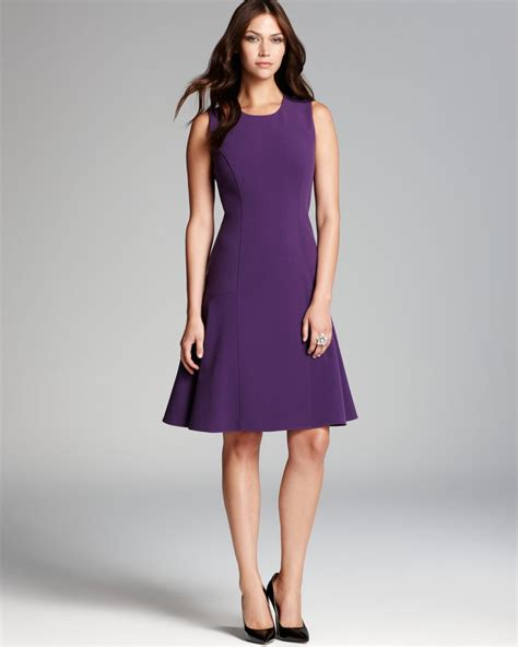 swing skirt dress anne klein drop waist knit dress with swing skirt in