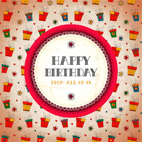 Birthday Card Vintage Template by Vintage Card Happy Birthday Vector Illustration Stock