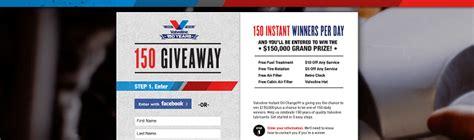 Valvoline Giveaway - instantoil150 com valvoline 150 giveaway
