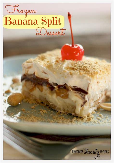 frozen banana split dessert favorite family recipes
