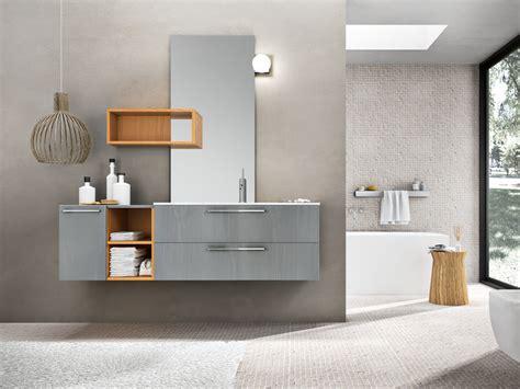 agorà mobili bagno mobile lavabo laccato sospeso con specchio kyros 07