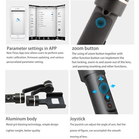 Item Feiyu Spg Handled Stabilizer For Smartphones Actioncam feiyu tech spg c 3 axis bluetooth stabilized handheld gimbal for smartphone w battery price