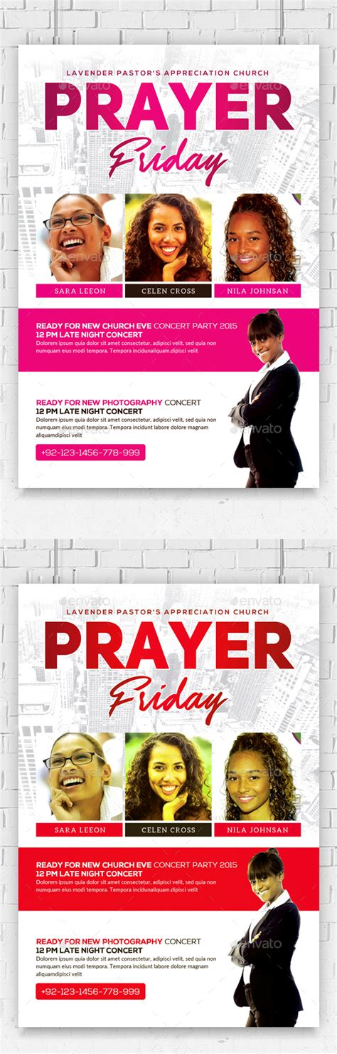 Women Of Prayer Church Flyer Template By Anaya22 Graphicriver Prayer Flyer Template