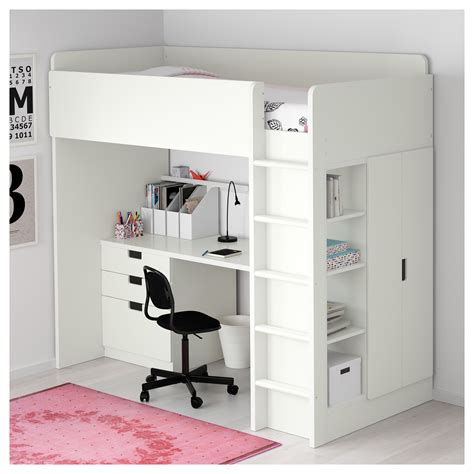 Ikea Bunk Bed Reviews Stuva Loft Bed Combo W 3 Drawers 2 Doors White 207x99x193 Cm Ikea