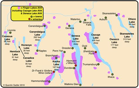 map of the finger lakes sheldrake point the finger lakes explained quentin