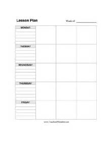 lesson plan template vertical