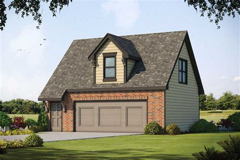 detached garage with open living area above 42550db