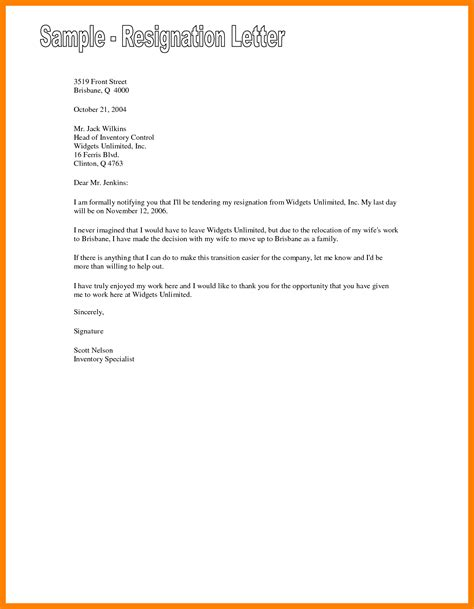 Proper Resignation Letter Format by 9 How To Write A Proper Resignation Letter Emt Resume