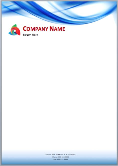plantilla business letterhead with blue waves here is a blue waves letterhead template that can be used