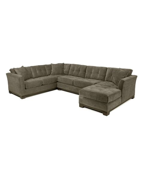 Sectional Macys by Elliot Fabric Microfiber 3 Chaise Sectional Sofa