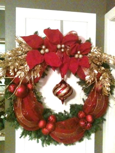 large outdoor wreath holiday decor pinterest