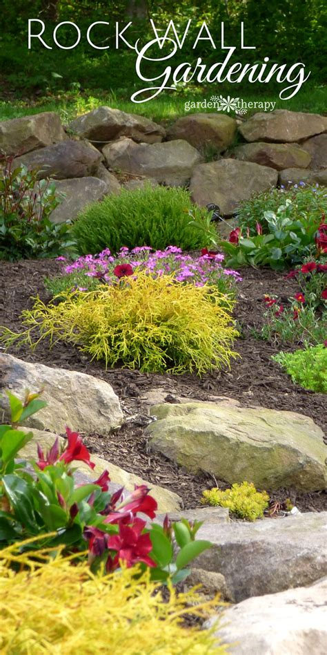 creating and structure with a rock wall garden
