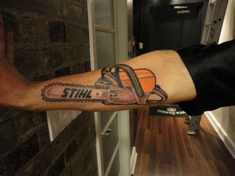 chainsaw tattoo designs stihl chainsaw tat
