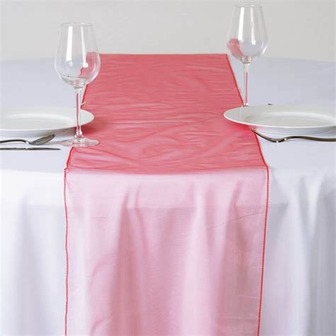 coral organza table runners coral organza table runner efavormart
