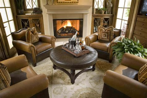 Brown Armchair Design Ideas 36 Living Rooms That Are Richly Furnished Decorated