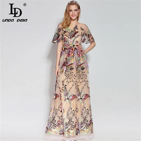 costume design 2017 high quality 2017 fashion designer runway maxi dress