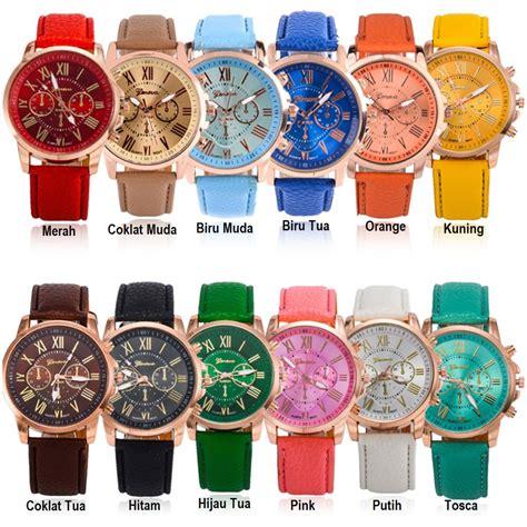 Jam Tangan Cewek Quartz fyg j 100 jam tangan geneva leather quartz jam tangan