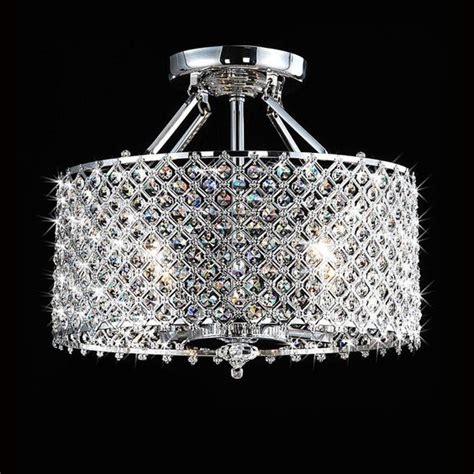 Pendants Chandeliers And Ceilings On Pinterest Drum Chandelier With Crystals