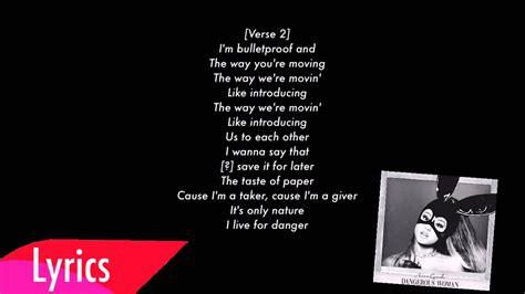 grande testo dangerous grande letra lyrics