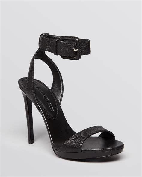 black high heel ankle sandals burberry sandals alderney ankle high heel in black
