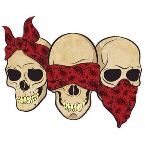 hear no evil skull tattoo designs bandana skulls hear no evil see no evil speak no evil