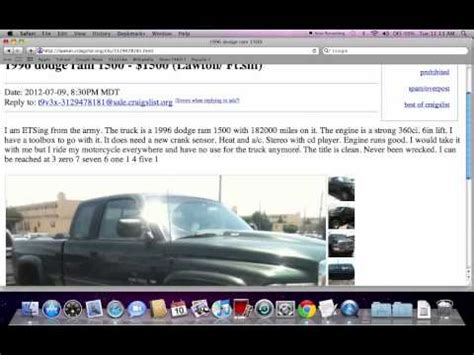 craigslist trucks   auto