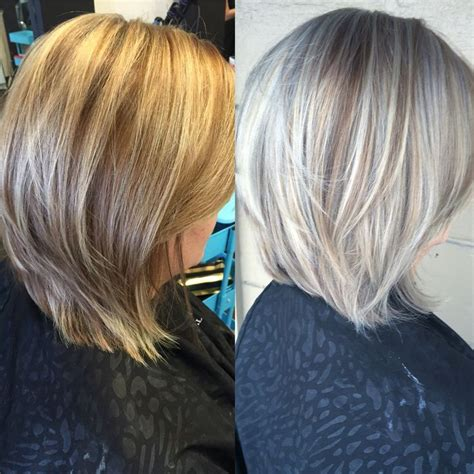 whight gray higlights hair styles only best 25 ideas about silver highlights on pinterest