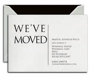 business change of address cards personalised stationery and cards by heritage stationery